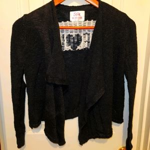 Justice black & white sparkly sweater Girls 10